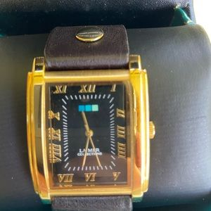 Womens Black La Mer Watch Leather Band with Box